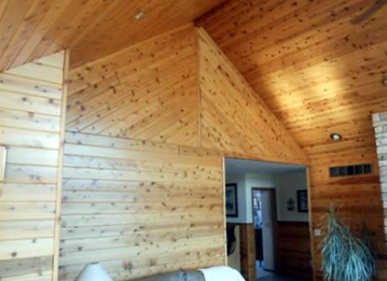 Wood Wall Plank Installation WI